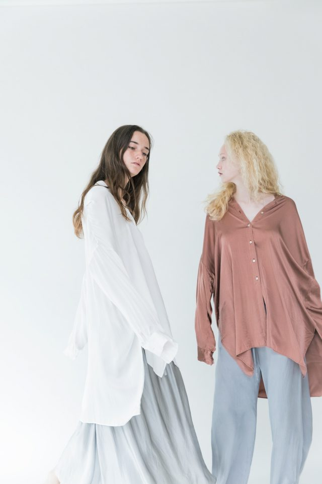 <p>(left) BLOUSE 060 & SKIRT 010  (Right) BLOUSE 060 & PANTS 064</p>