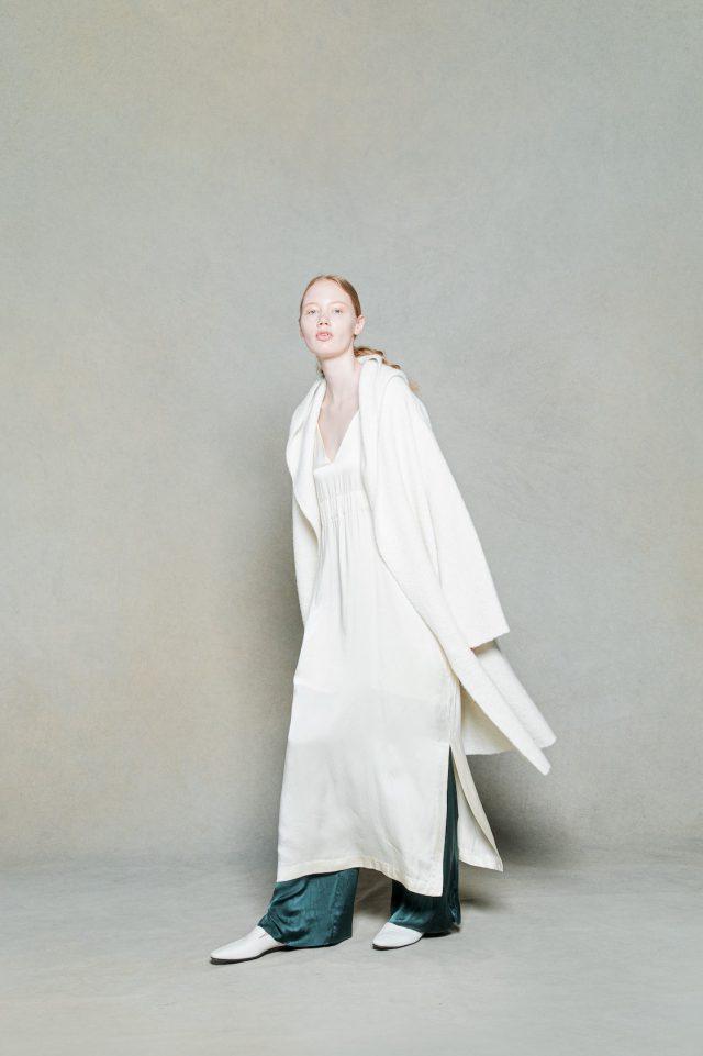 <h6>KNIT 062_natural<br /> DRESS 066_clove-ecru<br /> PANTS 064_forest-green</h6>